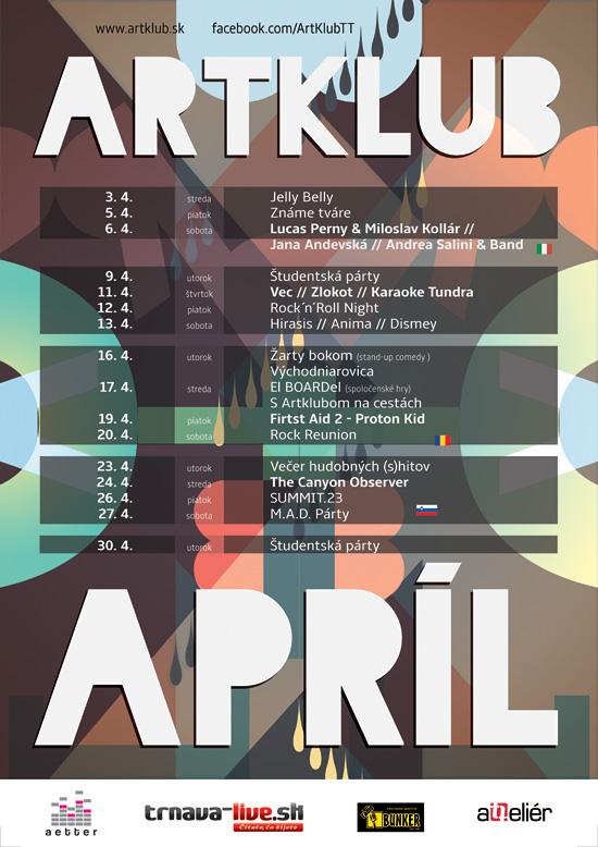 Artklub program Apríl 2013