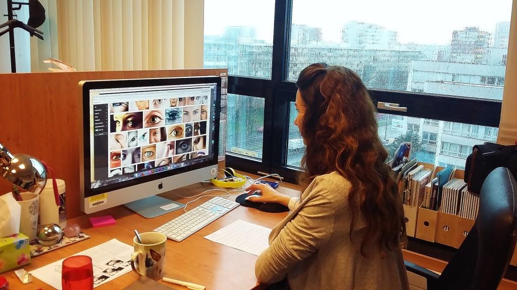 Práca obrazovej redaktorky