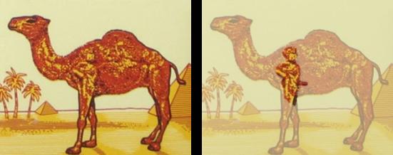 Cigarety Camel vo svojom známom logu tiež použili sexuálny motív