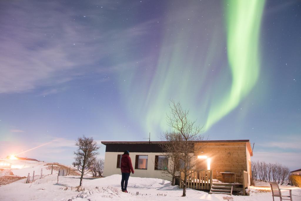 Guest house Thykkvibaer s polárnou žiarou