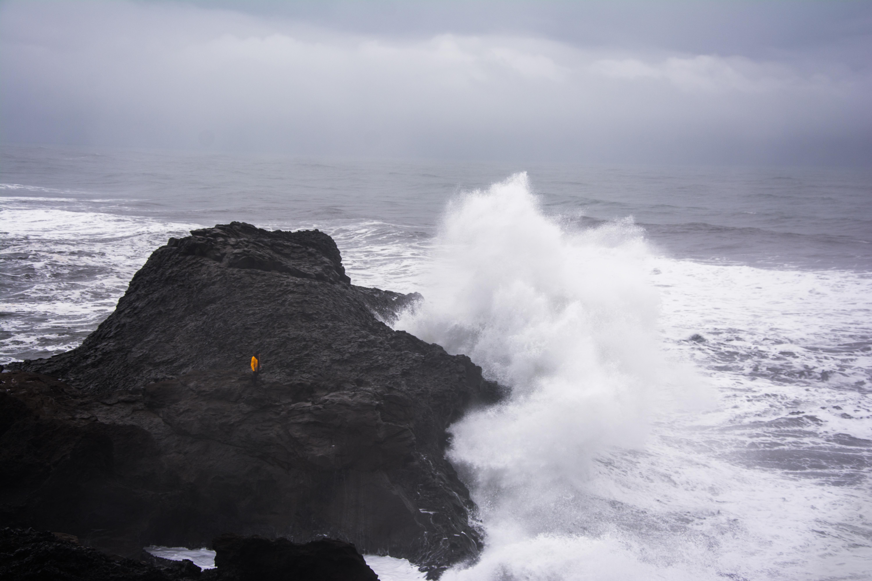 Na útesoch poloostrova Dyrhólaey - najjužnejšieho výbežku Islandu