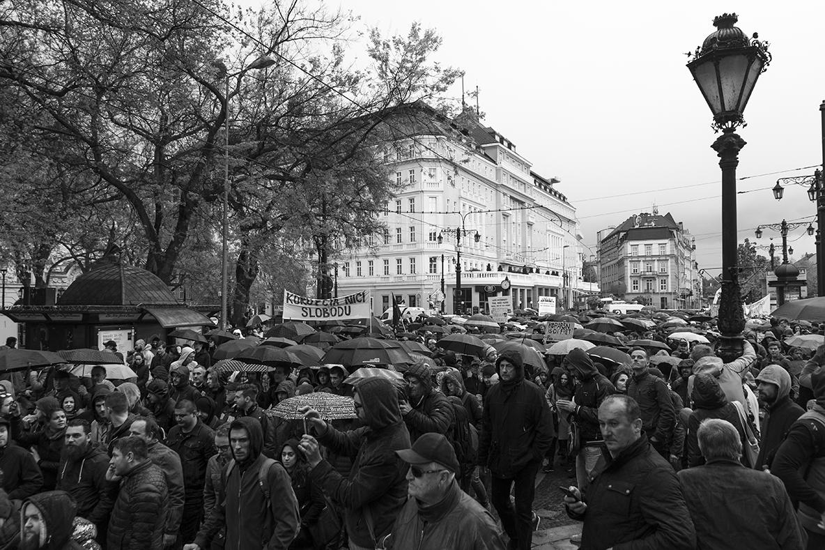 Pochod sa začal na Hviezdoslavovom námestí