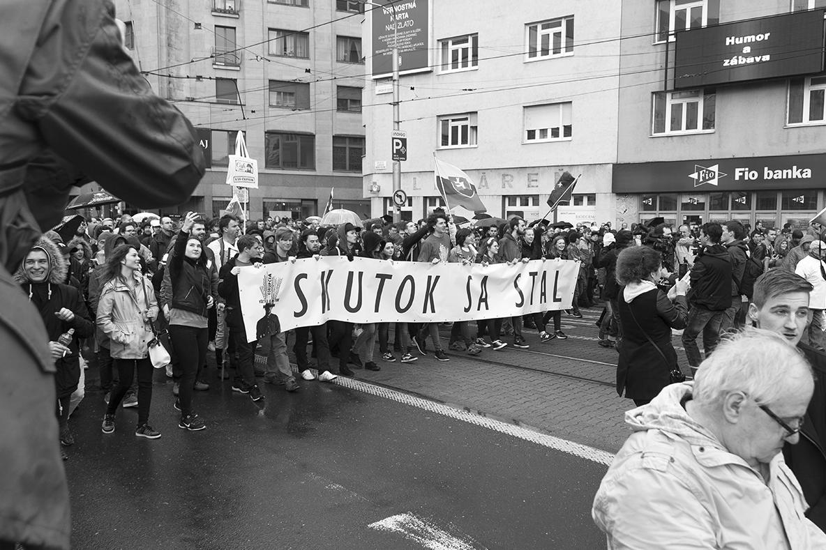 Na čele pochodu boli stredoškoláci