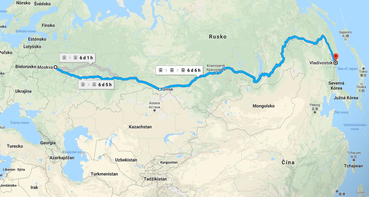 mapa magistrály