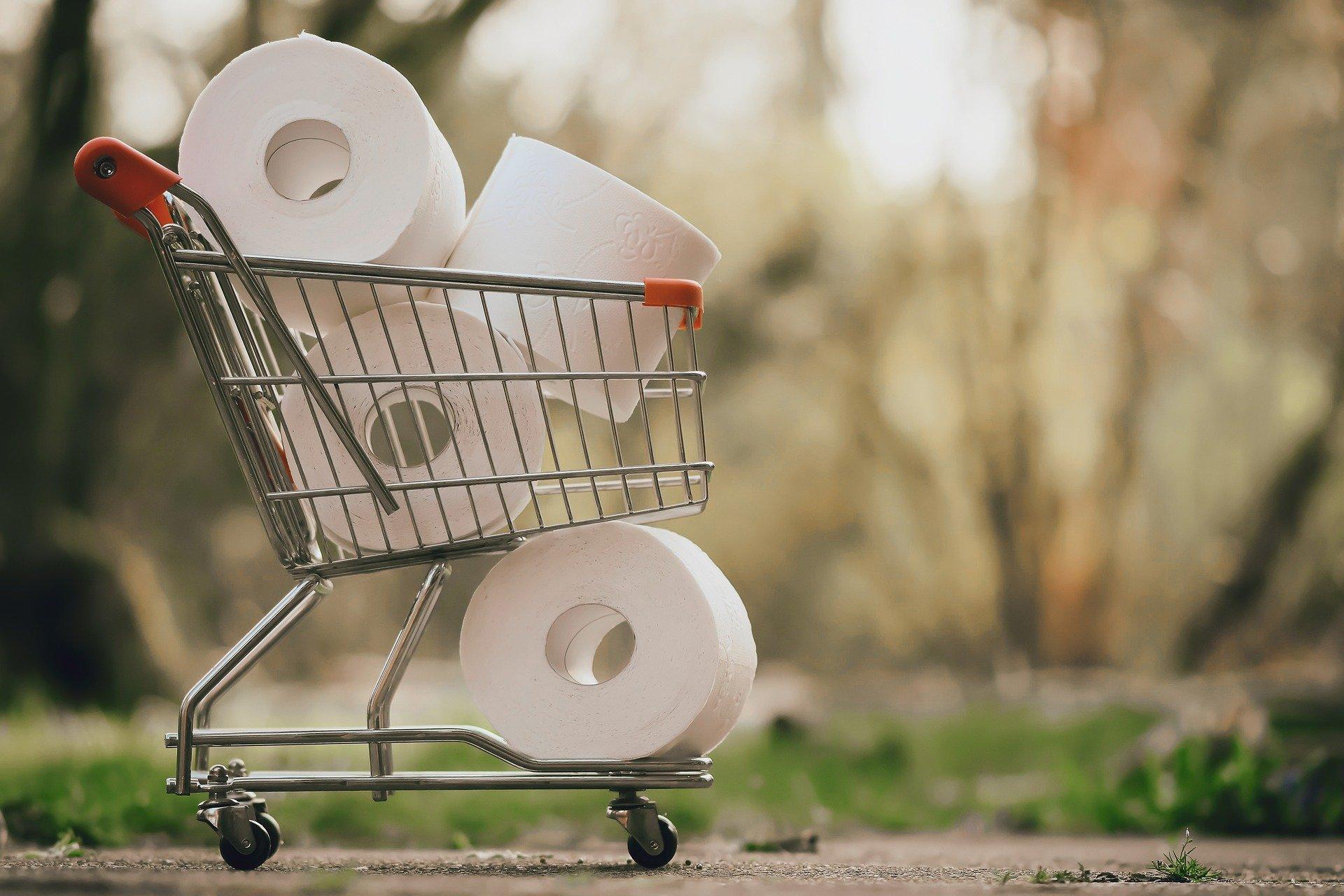 nákup toaletné papiere rabovanie obchodov