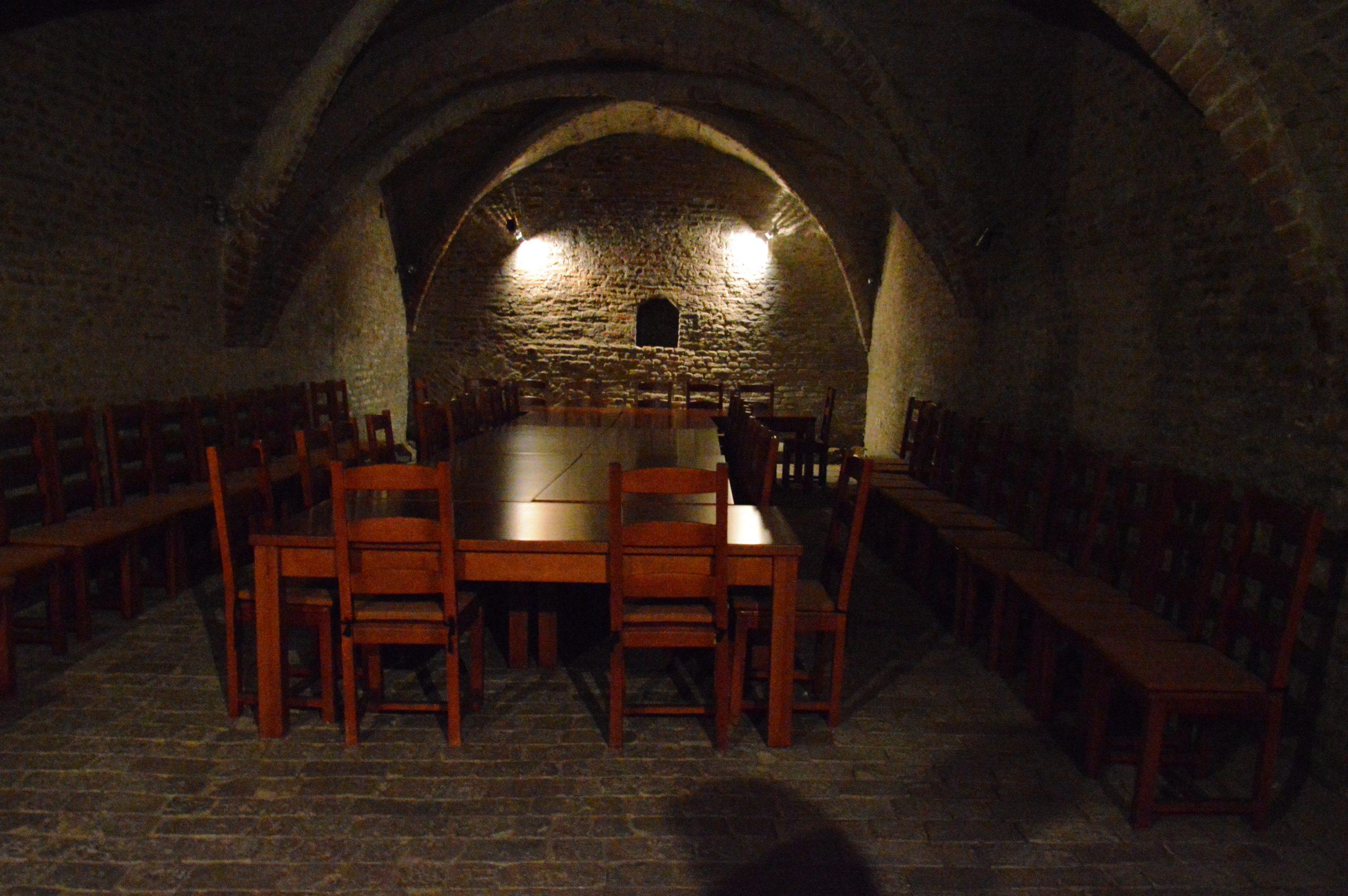 Vínna pivnica na radnici v Trnave.