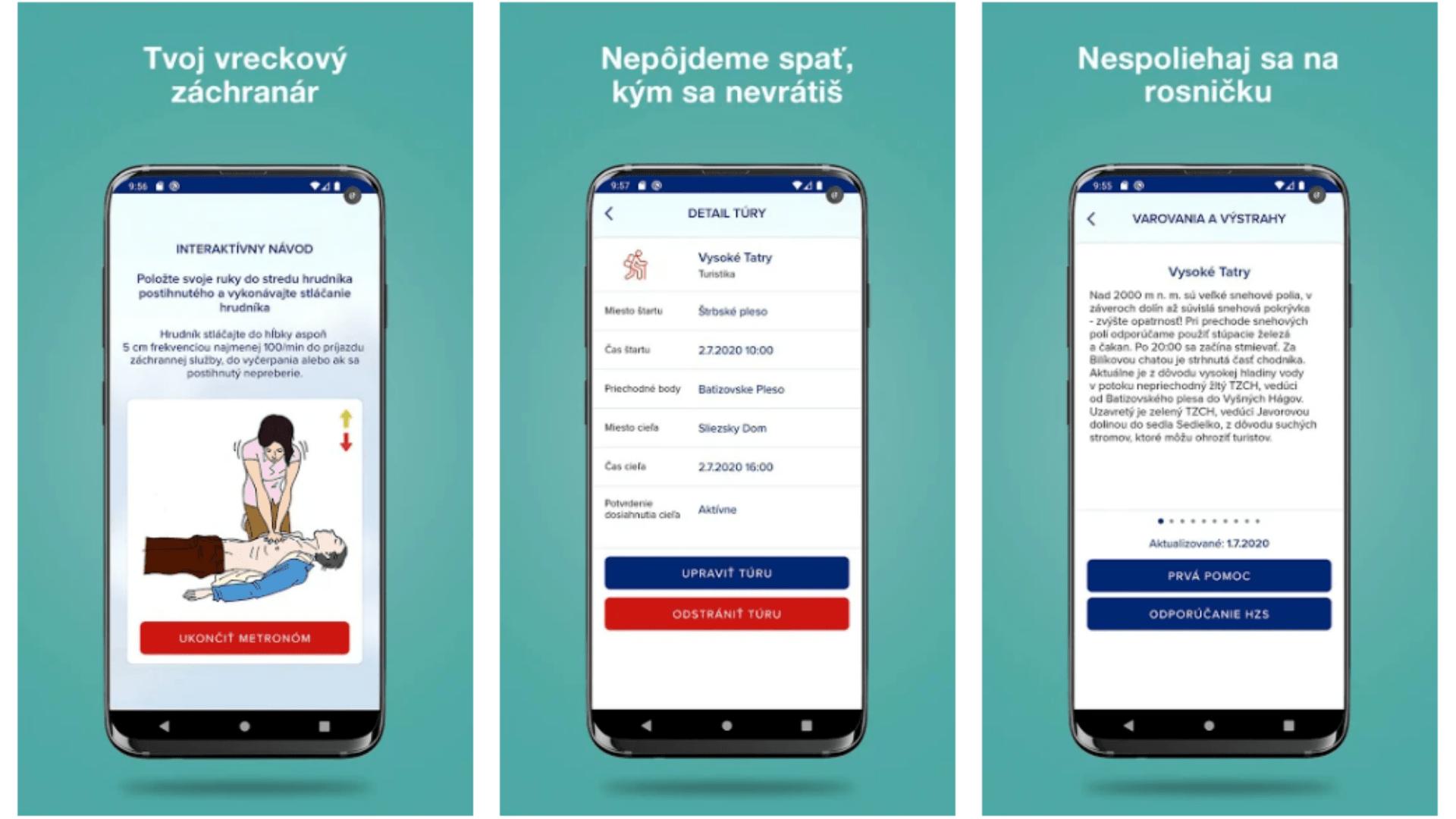 aplikácia horskej záchrannej služby