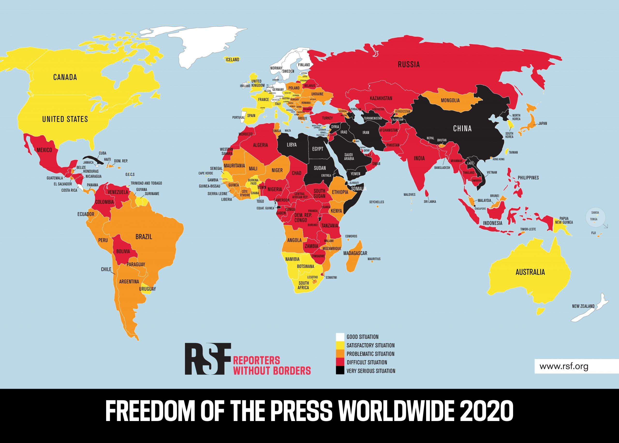 Rebríček slobody tlače